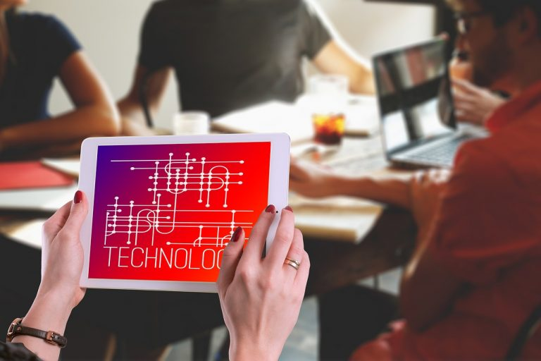 technology, woman, tablet